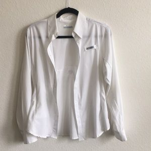 White Columbia button up jacket